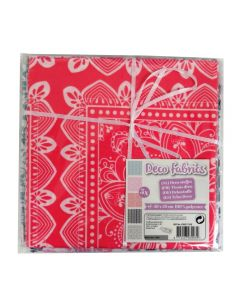 Craft Sensations 50x50cm 100% Polyester Deco Fabric - Pink, Grey, Black Pattern Designs