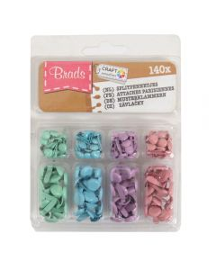 Craft Sensations Decorative Mini Brads – Aqua, Turquoise, Lilac, Pale Pink
