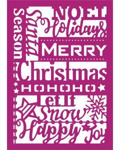 Gemini Create-a-Card Metal Die - Christmas Greetings