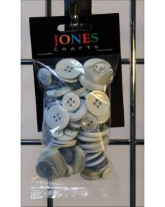 Jones and Co. Pale Blue Buttons approx. 50g