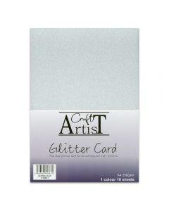 Craft Artist A4 Glitter Card - Silver