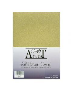 Craft Artist A4 Glitter Card - Gold