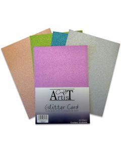 Craft Artist A4 Glitter Card - Cool Tones
