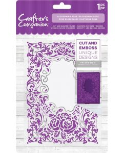 "Crafter's Companion 5""x7"" Cut and Emboss Folder - Blossoming Rose"
