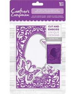 "Crafter's Companion 5""x7"" Cut and Emboss Folder - Butterfly Kiss"