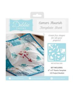 Debbie Shore Template Sheet - Corner Flourish