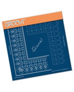 Claritystamp A5 Sq Plate - Princess Diana Lace Grid