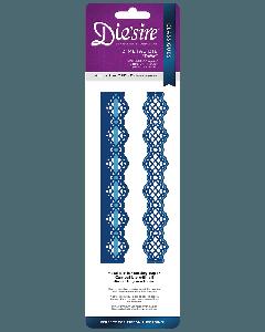 Die'sire Classiques Ribbon Threading Metal Die - Trellis