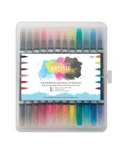 West Design Watercolour Dual Tip Pens 12pck - Brush and Marker