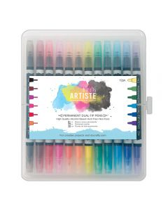 West Design Permanent Dual Tip Pens - 12pk - Thick and Thin
