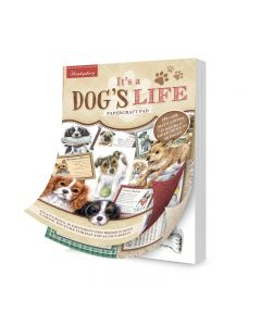 Hunkydory It's a Dog's Life A5 Papercraft Pad