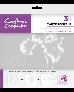 Crafter's Companion 3D Layering Stencils - Carte Postale