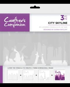 Crafter's Companion 3D Layering Stencils - City Skyline