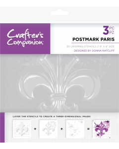 Crafter's Companion 3D Layering Stencils - Postmark Paris