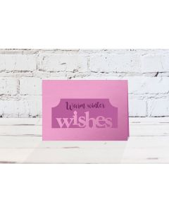 Gemini Christmas Edge'able Stamp and Die - Wishes