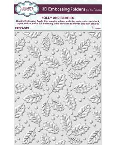 Creative Expressions (5 3/4 x 7 1/2) 3D Embossing Folders by Sue Wilson - Holly & Berries