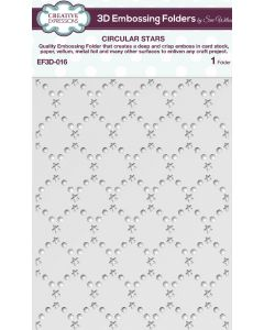 Creative Expressions (5 3/4 x 7 1/2) 3D Embossing Folders by Sue Wilson - Circular Stars