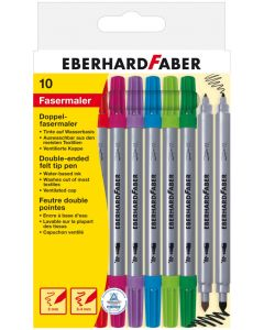 West Design Double Ended Felt Tip Pens Pack 10