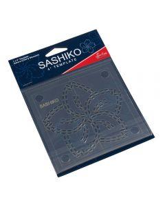 Sew Easy Sashiko 4 inch Template - Sakura (Cherry Blossom)