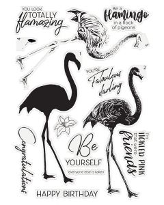 Crafter's Companion Photopolymer Layering Stamp - Fabulous Flamingo