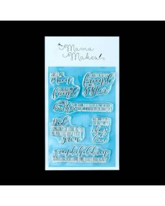 Mama Makes Clear Photopolymer Stamps - Family Sentiments