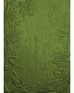 Poinsettia Perfection - 3D Embossing - Festive Frame
