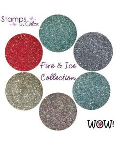 Stamps by Chloe - WOW Embossing Powders Fire and Ice Collection