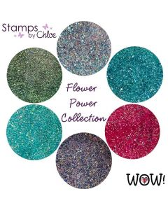 Stamps by Chloe Set of 6 WOW Embossing Glitters - Flower Power Collection