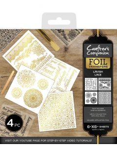 Crafter's Companion Foil Transfers - Lavish Lace