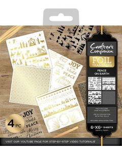 Crafter's Companion Foil Transfers - Peace on Earth