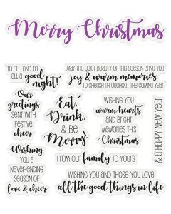 Crafter's Companion Sentiment & Verses Clear Stamps - Merry Christmas
