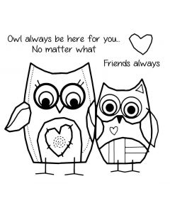 Woodware Clear Singles - Owl Friends Stamps