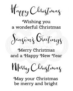 Woodware Clear Singles - Merry & Bright