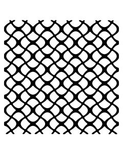 Creative Expressions Woodware 6 x 6 Stencil - Scaly Mesh