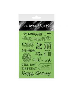 Hunkydory For the Love of Stamps - Birthday Wishes