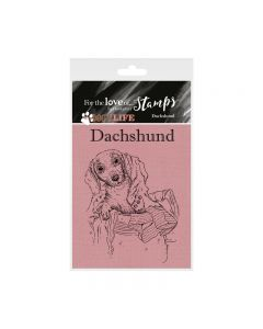 Hunkydory It's a Dog's Life Clear Stamp - Dachshund (Sausage dog)