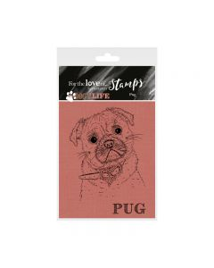 Hunkydory It's a Dog's Life Clear Stamp - Pug