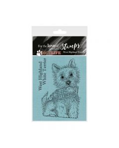 Hunkydory It's a Dog's Life Clear Stamp - West Highland Terrier