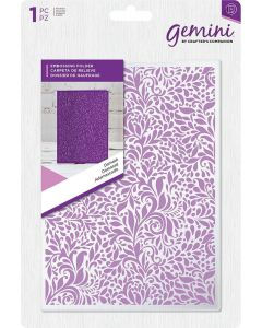 "Gemini Embossing Folder 5""x7"" - Damask"