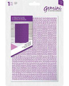 "Gemini Embossing Folder 5""x7"" - Warm Blanket"