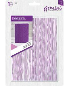 "Gemini Embossing Folder 5""x7"" - Wood Panel"