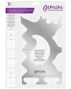 Gemini 6-in-1 Quilting Pattern Guide - Set 3 (with a free mystery half metre of fabric)