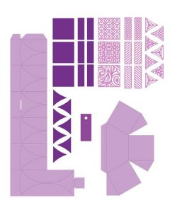 Gemini Dimensionals Box Making Die - Hexagon Petal Box