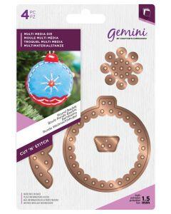 Gemini Cut 'n' Stitch Multi Media Die Set - Round Bauble