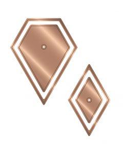 """Gemini Multi Media English Paper Piecing 1"""" Die - Jewel and 60 degree Diamond Die Set"""