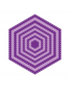 Gemini Elements Die - Stitch Edge Hexagon