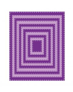 Gemini Elements Die - Stitch Edge Rectangle