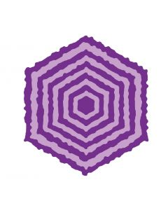 Gemini Elements Die - Torn Edge Hexagon