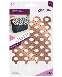 Gemini Multi Media Metal Die - Decorative Clamshell Panel