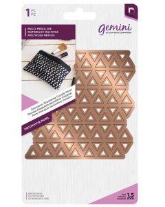 Gemini Multi Media Metal Die - Decorative Tessellating Triangle Panel
